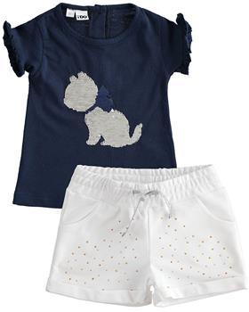 I Do girls summer T shirt & short 42742-42757-021