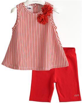 I Do girls top & legging set 42746-2174-021 red