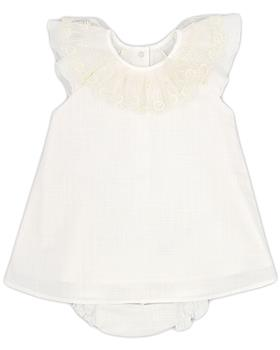 Rapife baby girls summer dress & briefs 4115S21 ivory