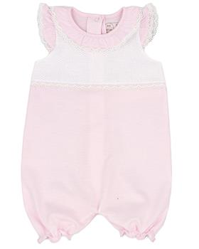 Rapife baby girls summer sleeveless  romper 4207S21 pink