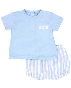 Rapife boys T shirt & shorts 4414S21 blue
