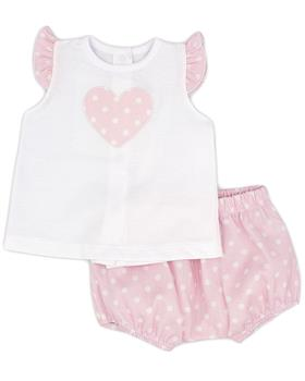 Rapife baby girls T shirt & bloomer short 4513S21 pink