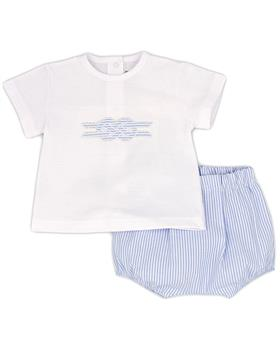 Rapife baby boys T- shirt & bloomer short 4614S21  blue