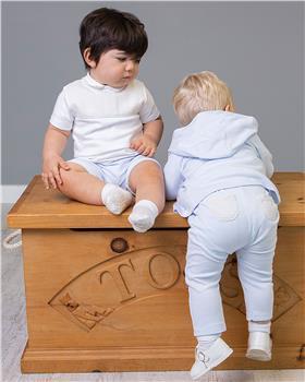 Bluesbaby boys top & shorts BB0025-021 Bl/wh