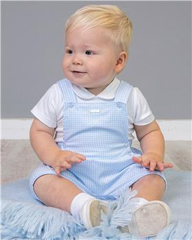 Bluesbaby boys top & dungaree BB0032-021 WH/BL