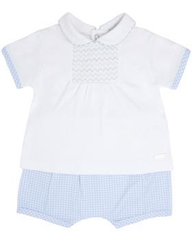 Bluesbaby boys top & shorts BB0034-021 Bl/wh
