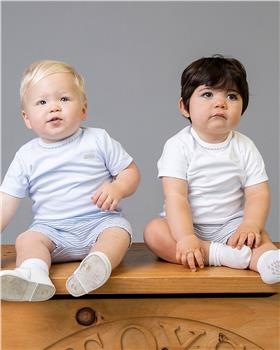 Bluesbaby tshirt & shorts set BB0012-021 Wh/bl
