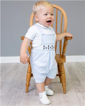 Bluesbaby boys top & dungaree BB0030-021 WH/BL