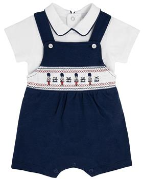 Bluesbaby boys top & dungaree BB0031-021 WH/NVY