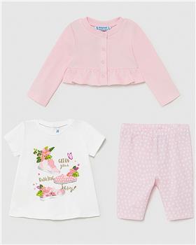 Mayoral baby girls 3 piece legging set 1710-021 pink
