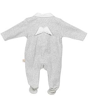 Baby Gi angel wing cotton sleepsuit BGM53ACS Grey