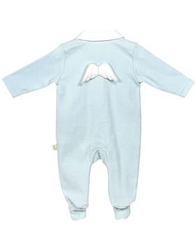 Baby Gi angel wing cotton sleepsuit BGM53AAS Blue