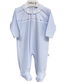 Baby Gi blue cotton babygrow BOR54MA Blue