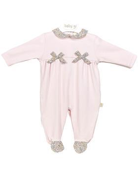 Baby Gi Liberty frill babygrow L52YR pink