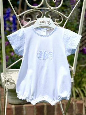 Baby Gi baby boy short leg romper BCH46A blue