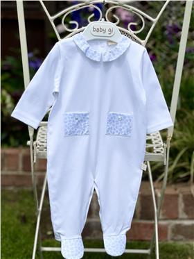 Baby Gi beach babygrow with pockets BCH52A blue