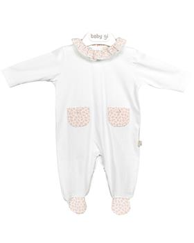 Baby Gi beach babygrow with pockets BCH52R pink