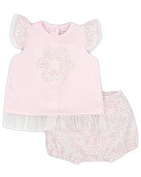 Rapife baby girls T shirt & bloomer short 4413S21 pink