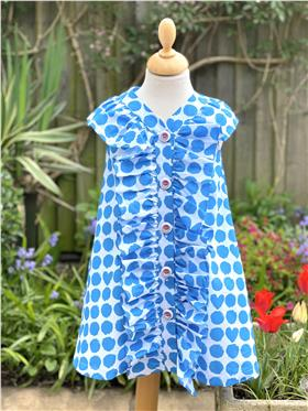 Agatha Ruiz girls spotty dress 7VE3409-021 Blue