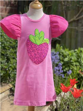Agatha Ruiz girls strawberry dress 7VE3427-021 Pink