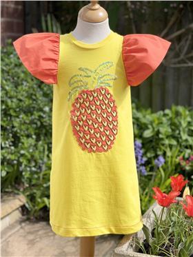 Agatha Ruiz girls pineapple dress 7VE3428-021 Yellow