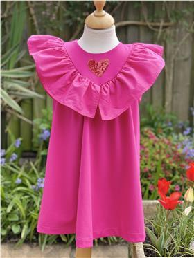 Agatha Ruiz girls dress 7VE3454-021 Cerise