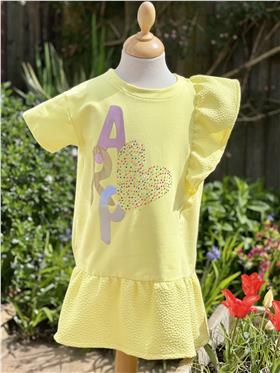 Agatha Ruiz girls dress 7ve3453-021 yellow
