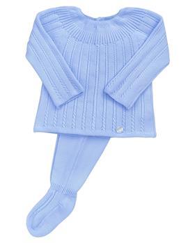 Martin Aranda baby boys knit footsie 004-12128-021 blue