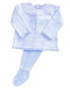 Martin Aranda baby boys knit footsie 004-10040-021 blue