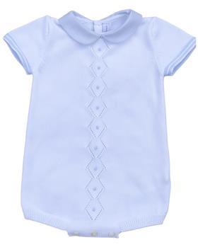 Martin Aranda baby boy knit romper 001-10040-021 blue