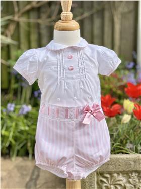 Sardon Baby Girls Blouse & Jam Pant CM-1607 Pink