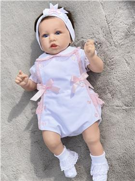 Little Nosh Baby Girls Outfit BM943 WH/PK