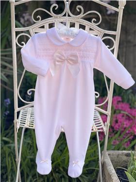 Little Nosh Girls Babygrow LB2020-104 Pink