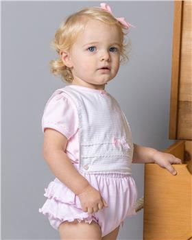 Bluesbaby girls frilly romper BB0046-021 Pink