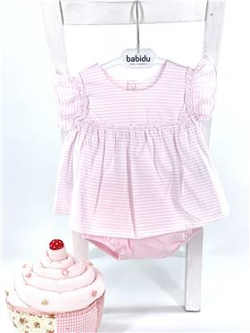 Babidu baby girls summer dress & panties 40256 pink