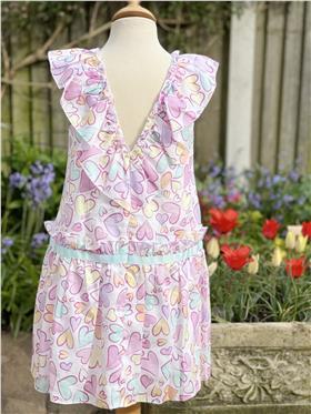 Daga Girls Summer Love Heart Dress 8332-021