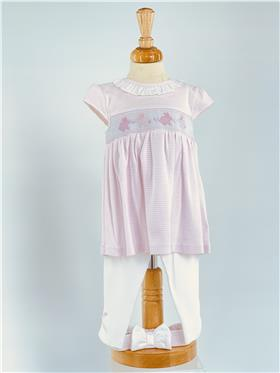 Mintini Baby Girls Dress, Legging & Headband MB3237-20 PINK