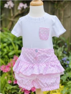 Mintini baby girls top short & hat MB1799-18