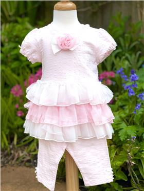Mintini baby girls summer dress & legging MB1783 PK