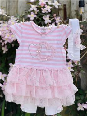Mintini baby girls summer dress & legging MB1792-18 PK