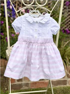 Laranjinha baby girls short sleeve dress CV633 Pink