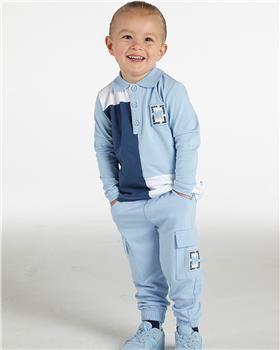 Mitch & Son boys polo top & cargo pants MS21407-411 blue