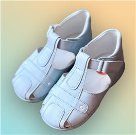 Andanines boys leather velcro fasten sandal 13920 Blue