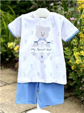 EMC Boys T-shirt & Shorts Set CO2361-18 WH/BL