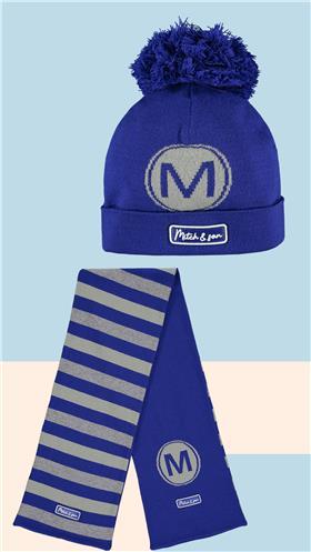 Mitch & Son boys hat & scarf set MS21515-516 Royal Blue