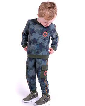 Mitch & Son boys camoflage tracksuit MS21603 Khaki