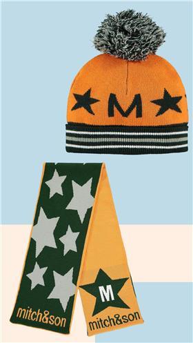 Mitch & Son boys pull on hat & scarf MS21612-613 Khaki