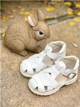 Andanines boys buckle strap summer sandal 22081 white