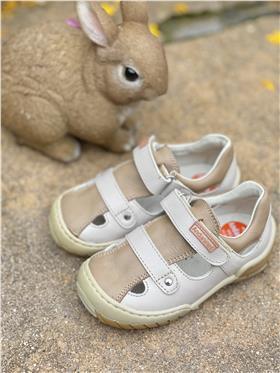 Andanines boys velcro strap summer shoe 21240 frontera beige