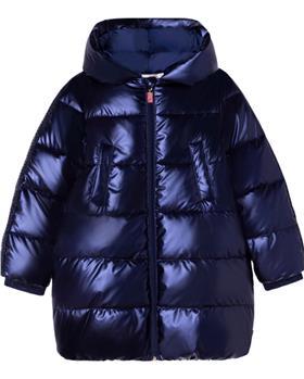 Billieblush girls winter puffa coat U16301 Navy